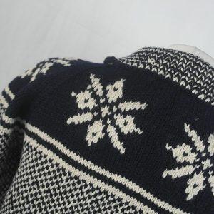30D Swedish Snowflake Henley Sweater 326c B Navy-Natural