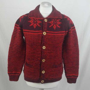 30E Swedish Snowflake Lumber Cardigan 318a Wine-Holly