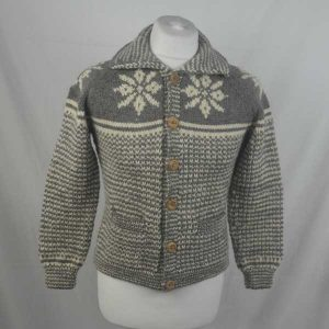 30E Swedish Snowflake Lumber Cardigan 319a Bracken N603-Natural