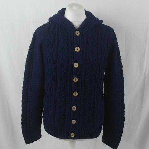 3A Hooded Lumber Cardigan Dark Denim