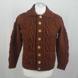 3A Lumber Cardigan 344a Rust 7011
