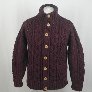 3P Turtle Neck Cardigan 348a Mehroon 7014