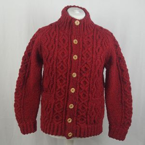 3P Turtle Neck Cardigan 349a Red 7015