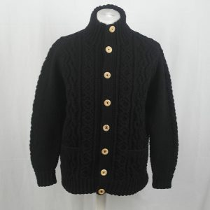 3P Turtle Neck Cardigan 350a Black 44
