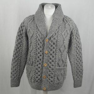 6A Shawl Collar Cadigan 347a Grey 7004