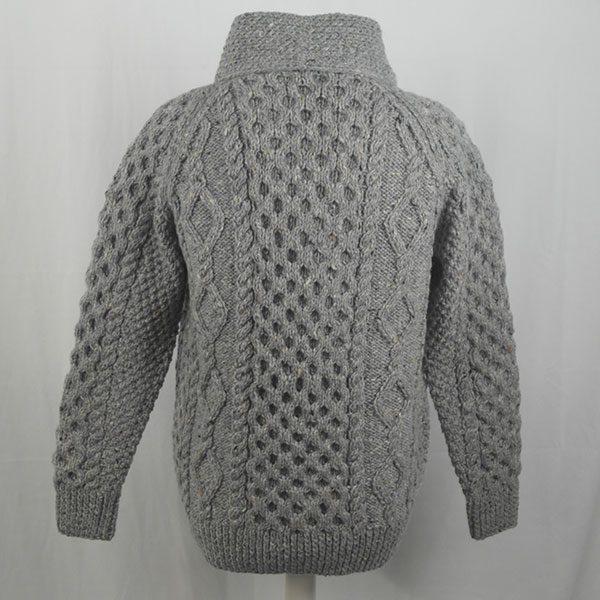 6A Shawl Collar Cadigan 347b Grey 7004