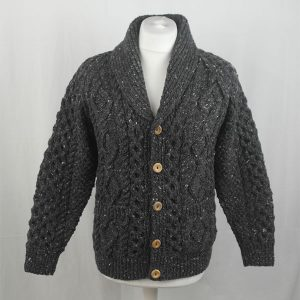 6A Shawl Collar Cardigan 346a Charcoal 7006