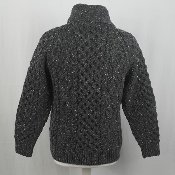 6A Shawl Collar Cardigan 346b Charcoal 7006