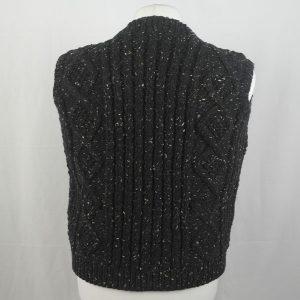 9H Aran Waistcoat 342b Black 7050