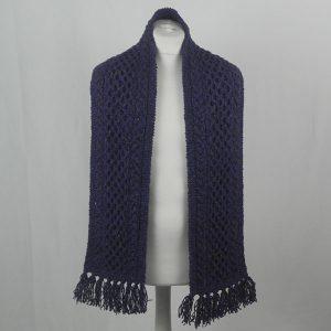 12A Aran Scarf 375b Violet 7057