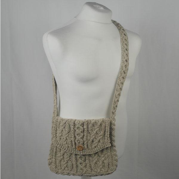 12K Aran Shoulder Bag 373a Natural