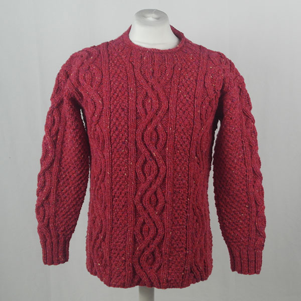 16I Tunic Roll Collar Sweater 381a Plum 7053