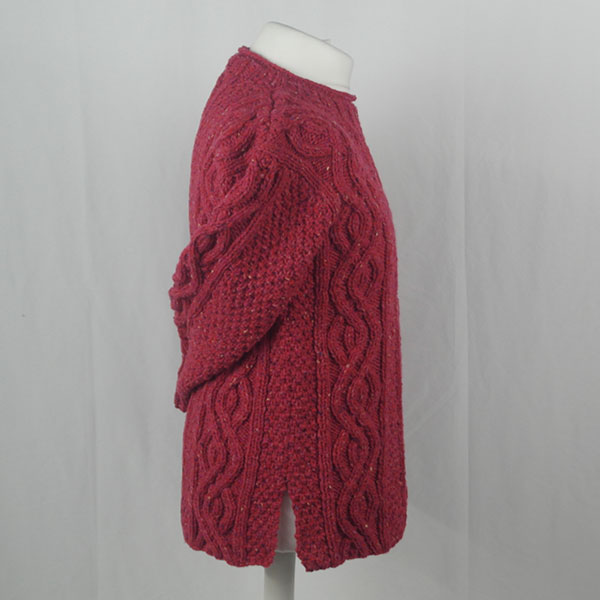 16I Tunic Roll Collar Sweater 381d Plum 7053