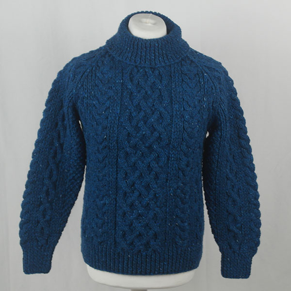 1A Country Meetings Roll Neck Sweater 388a Turquoise 7045