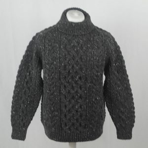 1A Country Meetings Roll Neck Sweater 390a Charcoal 7006