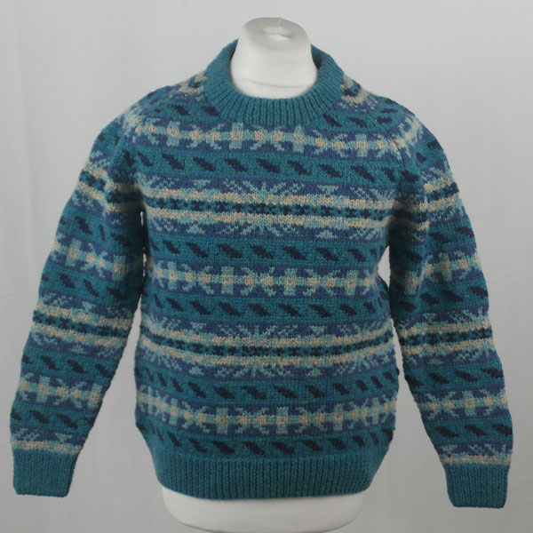 45D Allover Fairisle Crew 408a F