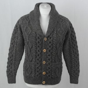 6A Shawl Collar Cardigan 391a Grey 7005