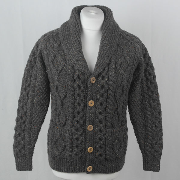6A Shawl Collar Cardigan 391a Grey 7005