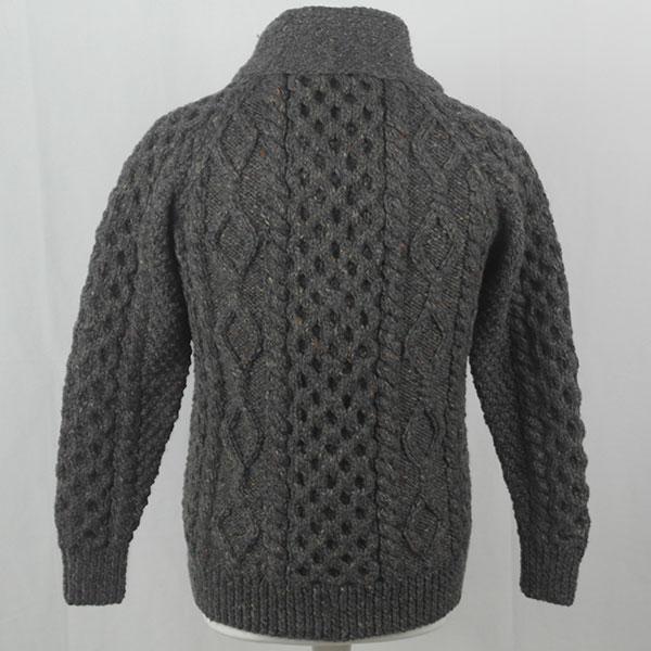 6A Shawl Collar Cardigan 391b Grey 7005