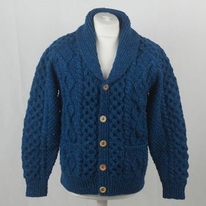 6A Shawl Collar Cardigan 392a Turquoise 7045