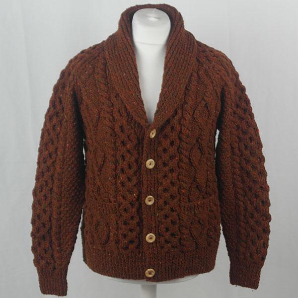 6A Shawl Collar Cardigan 394a Rust 7011