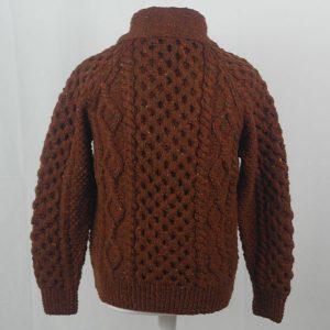 6A Shawl Collar Cardigan 394b Rust 7011
