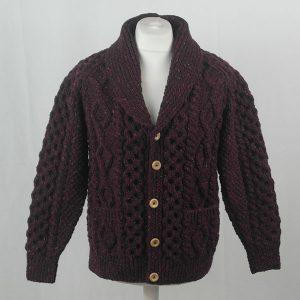 6A Shawl Collar Cardigan 395a Mehroon 7014