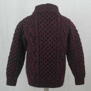 6A Shawl Collar Cardigan 395b Mehroon 7014