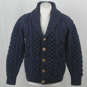 6A Shawl Collar Cardigan 396a Denim 7034