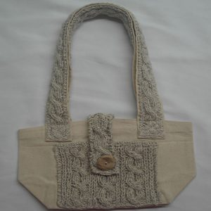 Cable 3 Shoulder Bag 366a Natural