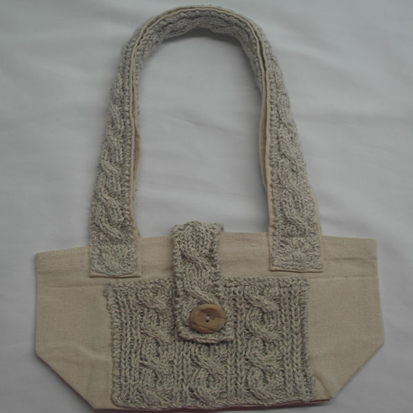 Cable 3 Shoulder Bag 366a Natural