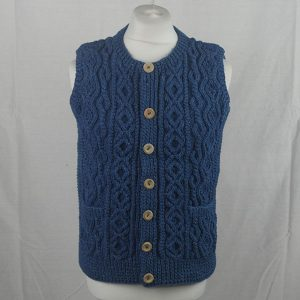39E Crew Neck Waistcoat 438a Medium Denim