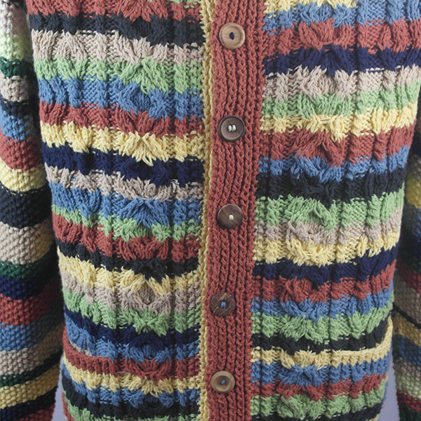3A Ripple Lumber Cardigan 457b Assorted