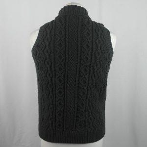 3V Aran Waistcoat 432b Charcoal 562
