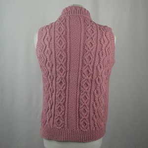 3V Aran Waistcoat 440b Soft Pink 513