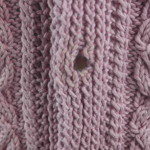 3V Aran Waistcoat 440c Soft Pink 513