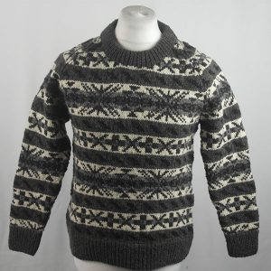 45D Allover Fairisle Crew 414a L