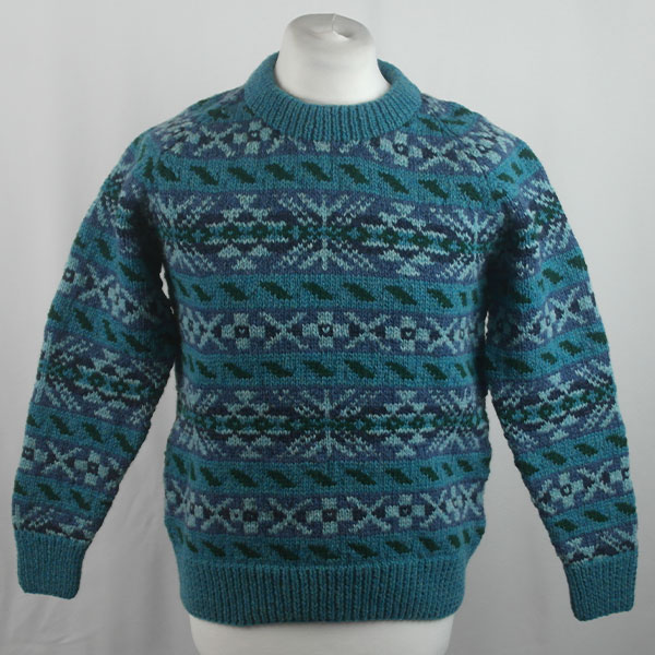 45D Allover Fairisle Crew 415a M