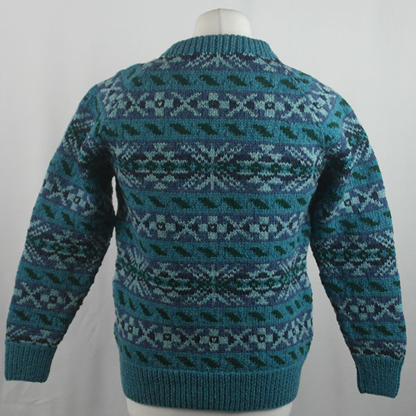 45D Allover Fairisle Crew 415b M