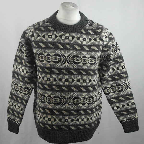 45D Allover Fairisle Crew 417a O