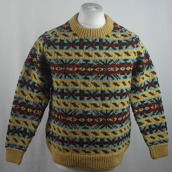 45D Allover Fairisle Crew 418a P