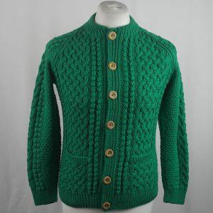 4A Golfer Cardigan 426a Emerald