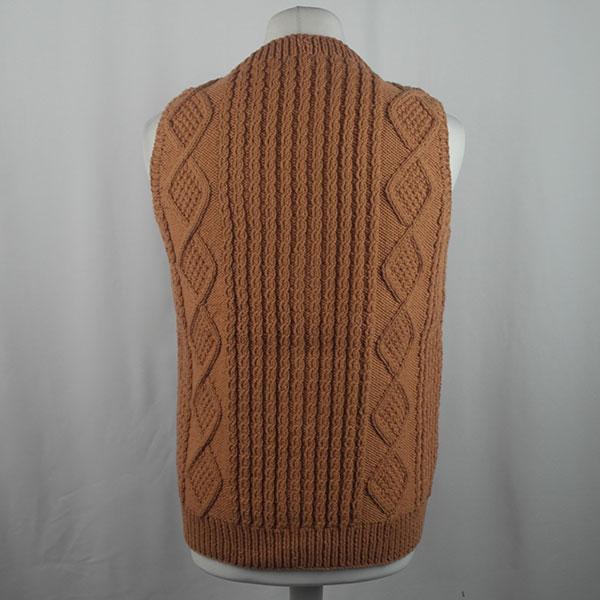 9H Aran Waistcoat 435b Terracotta 564
