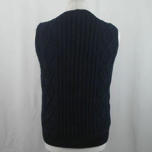 9H Aran Waistcoat 436b Dark Navy 570