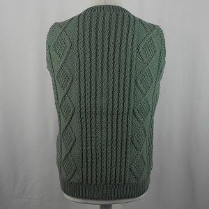 9H Aran Waistcoat 437b Moss Green