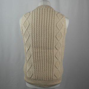 9H Aran Waistcoat 444b Natural