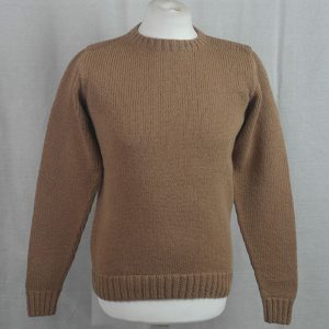 1Z Hand Framed Crew Neck Sweater 473a Camel