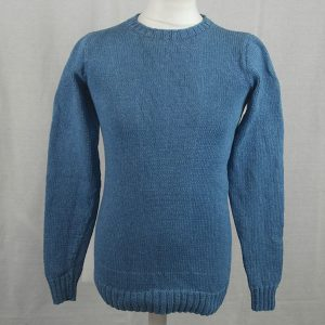 1Z Hand Framed Crew Neck Sweater 478a Light Denim