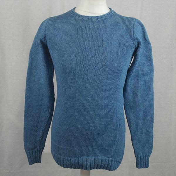 1Z Hand Framed Crew Neck Sweater 478a Light Denim