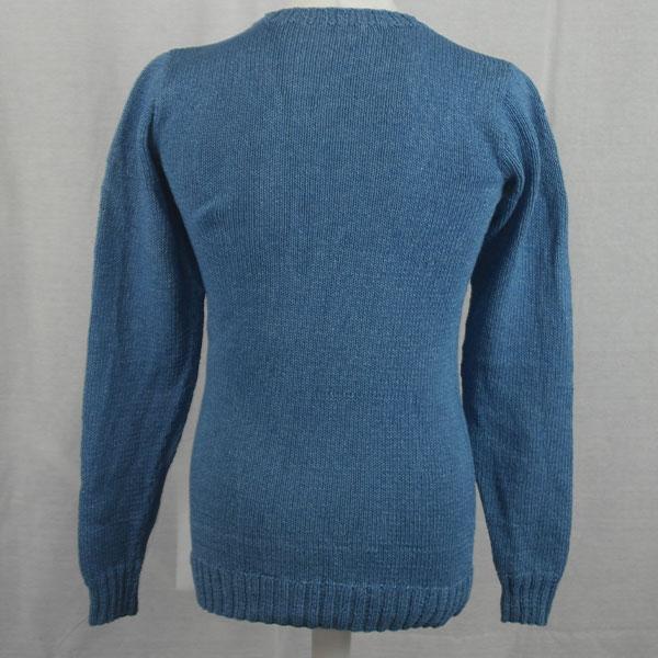 1Z Hand Framed Crew Neck Sweater 478b Light Denim